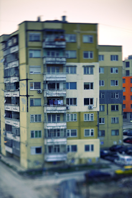 tilt-shift urban
